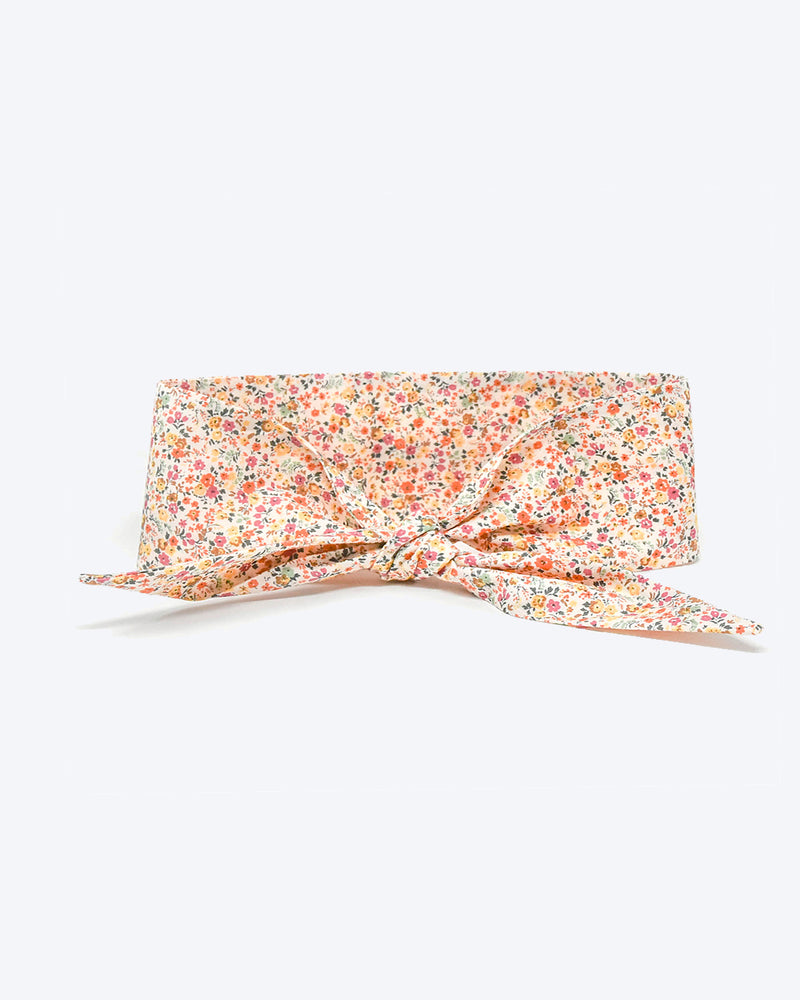 Floral necktie for dogs and cat. Like a rolled bandana but less fuss.