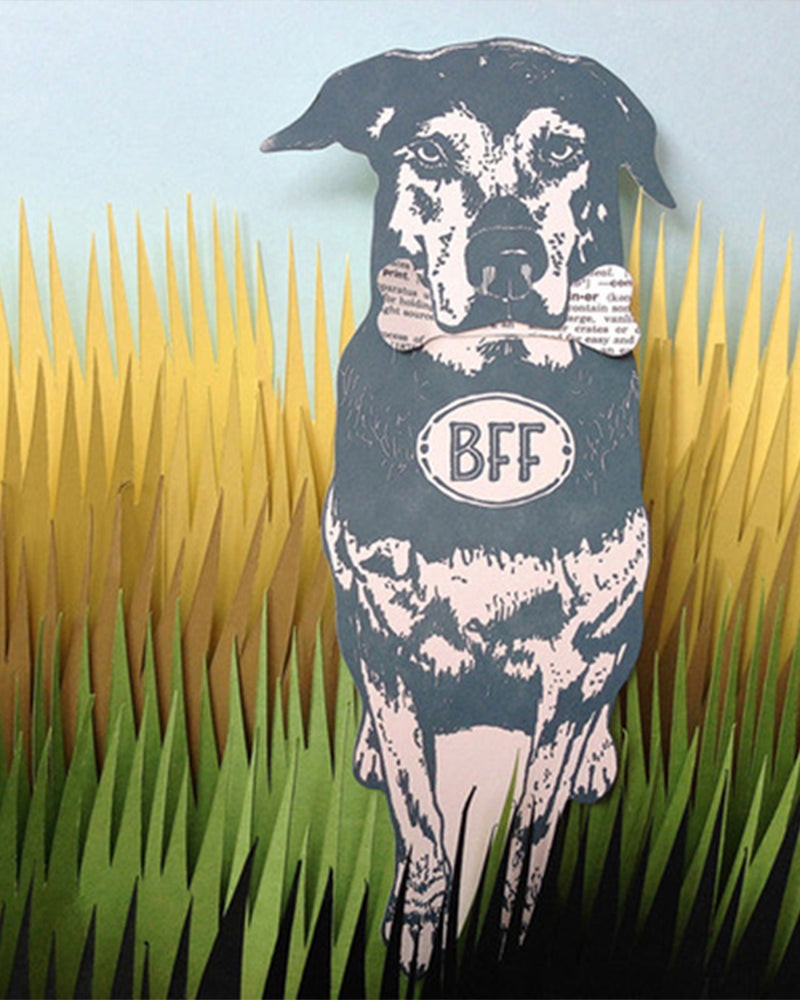 Bff Dog Card by  Blackbird Letterpress