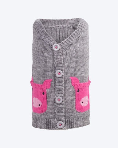 Pig Cardigan by Worthy Dog