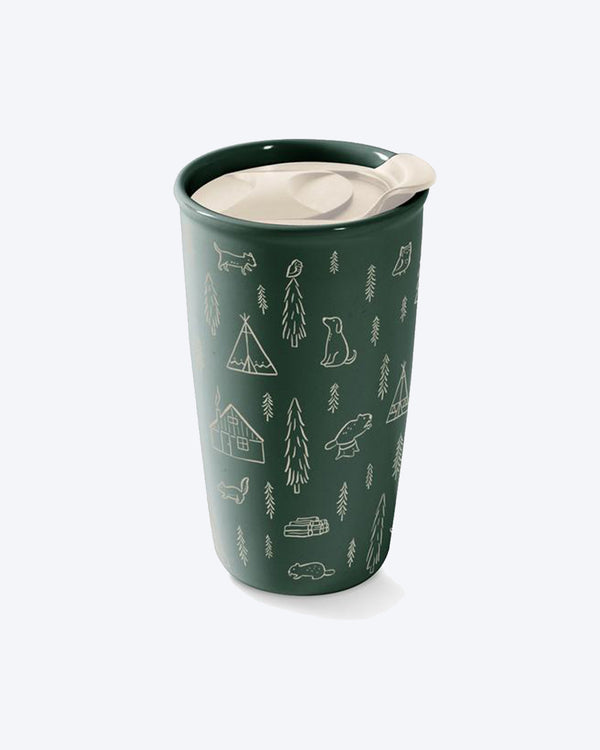CAMPING TRAVEL MUG by Fringe Studio