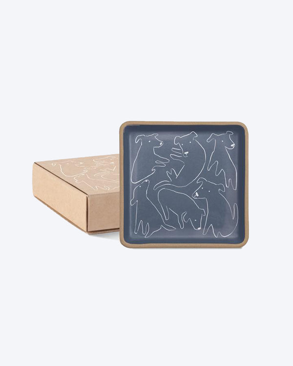 NOSEY DOG STONEWARE TRAY by Fringe Studio