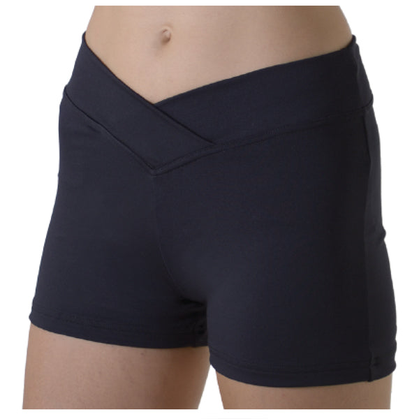 V-Waist Black Dance Shorts