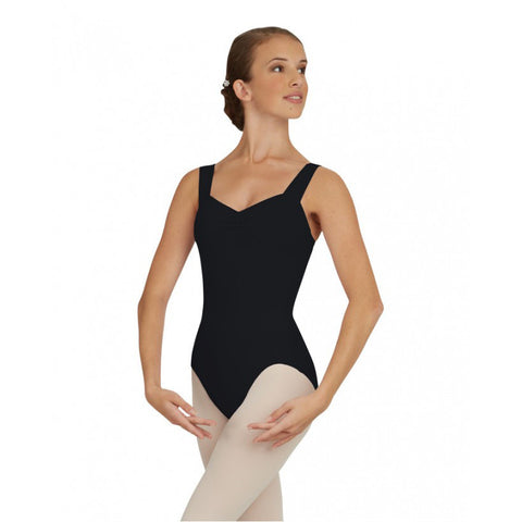 Wide Strap Black Leotard [Adult]