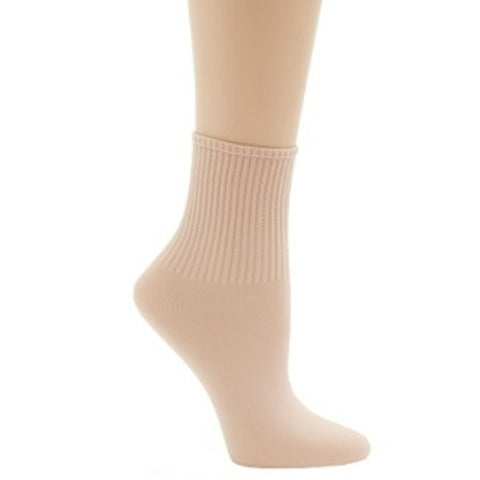 Ribbed Ballet Socks