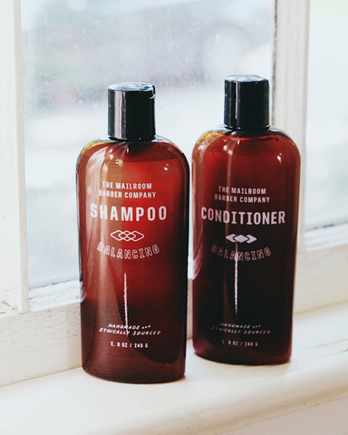 All natural shampoo and conditioner - sulfate free, paraben free, silicone free
