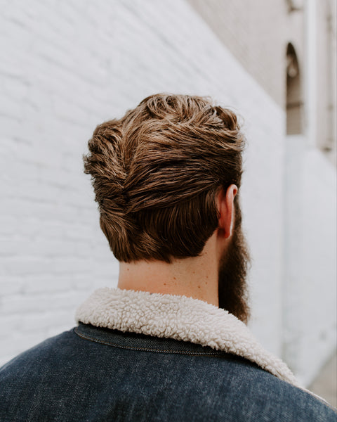 Textured ducktail haircut