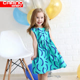Summer Girl Ball Gown Sleeveless Dress In Turquoise