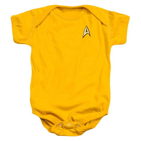 Star Trek Command Uniform Onesie in Yellow
