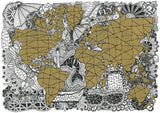 World Map Gold (PRINTS)