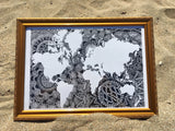 World Map Mandala B&W (PRINTS)