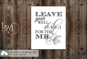 DIY Printables - 8x10 - Well Wishes Sign
