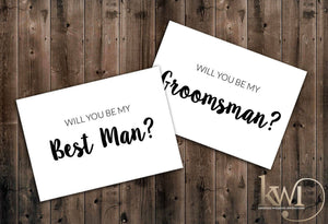 Will You Be My Groomsman Cards
