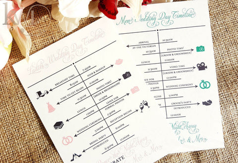Wedding Itinerary Cards
