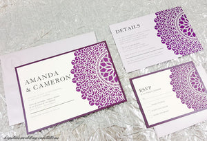 Modern Creative Wedding Invitation Suite - Krystals Wedding Invitations