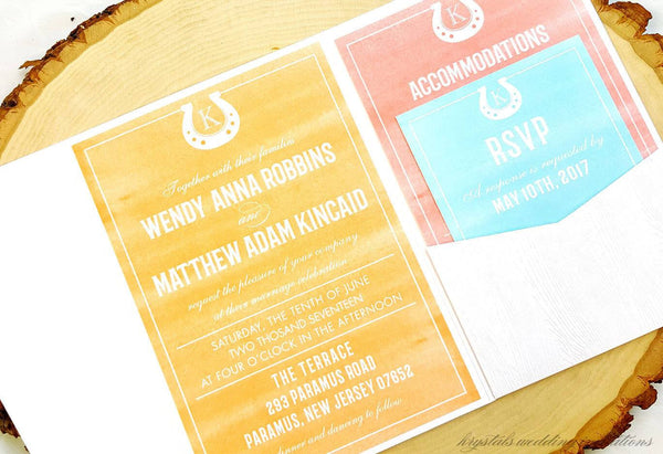 Ranch Wedding Invitations - Krystals Wedding Invitations
