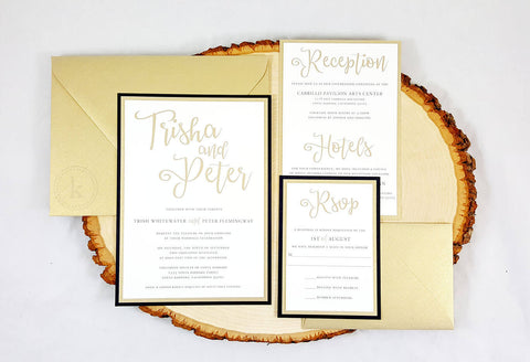 Rustic Chic Wedding Invitations - Krystals Wedding Invitations
