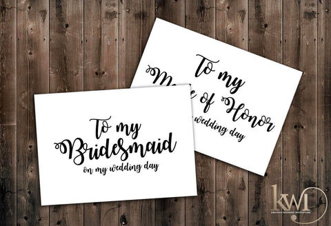 Garden Chic - Bridal Party Cards - Krystals Wedding Invitations