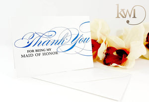 Bridal Party Thank You Cards