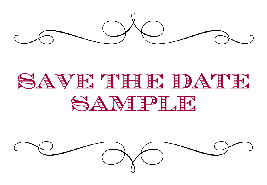 Save the Date Sample - Krystals Wedding Invitations