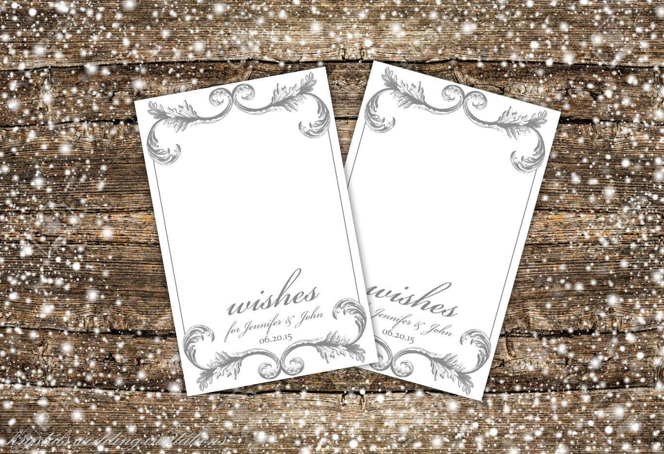 Wedding Well Wish Tags Advice Tags - Krystals Wedding Invitations