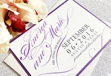 Save the Date - Krystals Wedding Invitations