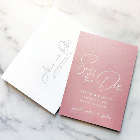 Blush Save the Date