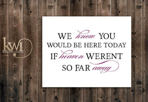 Heaven Remembrance Sign - Rustic Chic