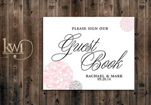 Guestbook Sign - Chrysanthemum