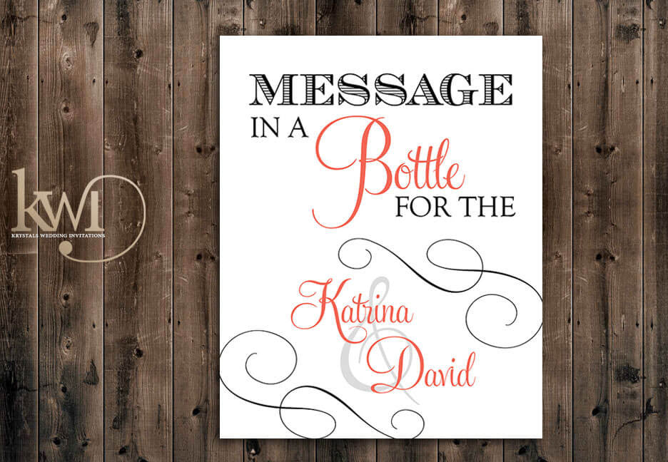 Message in a Bottle Sign