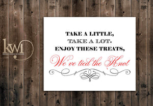 We've Tied the Knot Sign