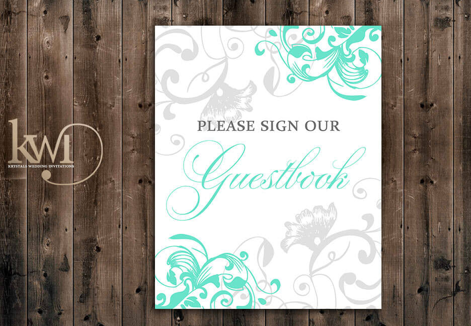 Guestbook Sign - Flourish