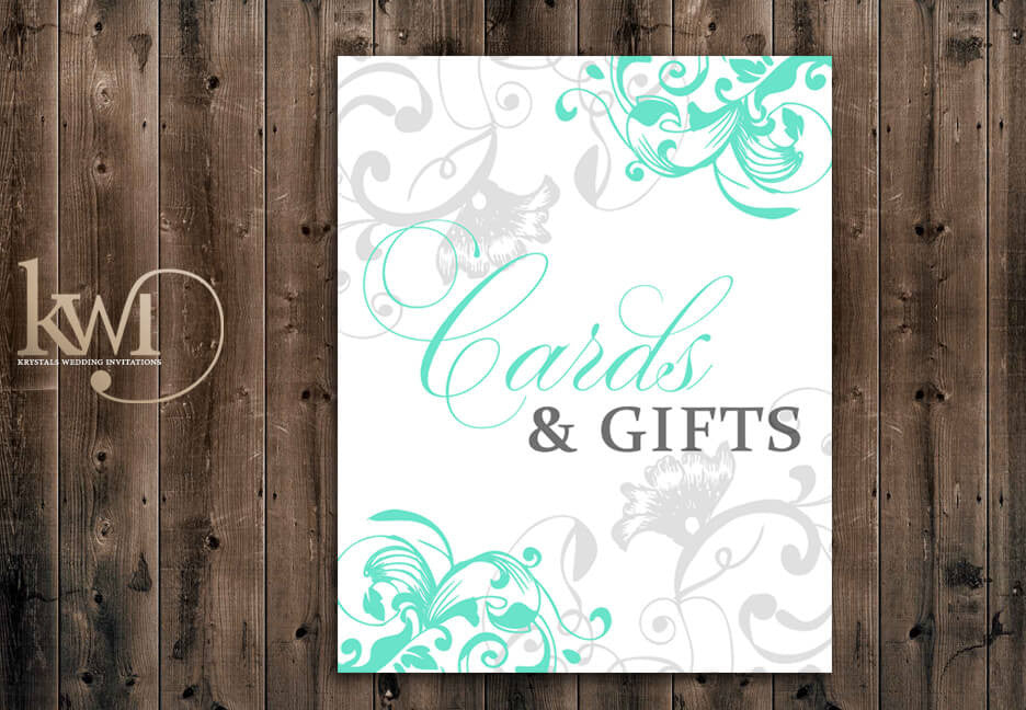 Cards and Gifts Sign - Flourish