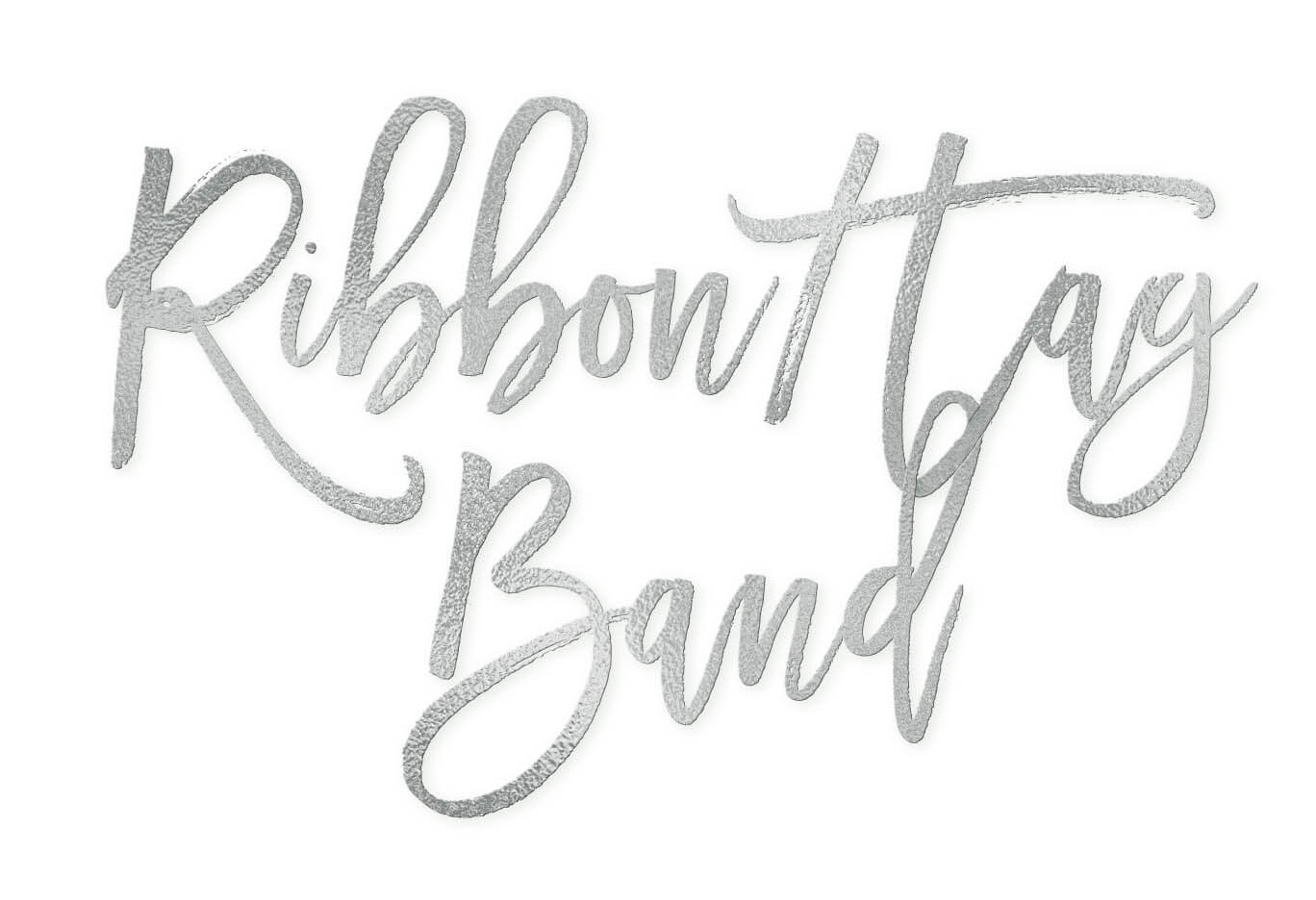 Ribbon Monogram Tag Band