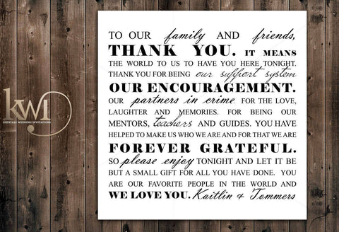 DIY Printables - Thank You Card Design - Krystals Wedding Invitations