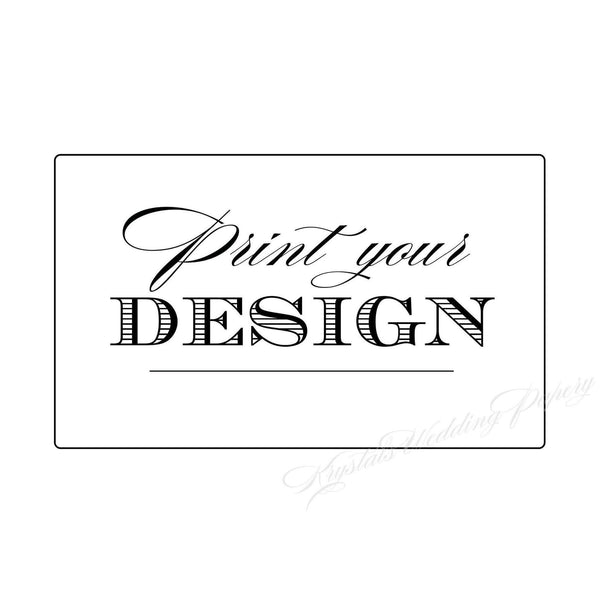 Print your Design Personalized Wedding Labels - Krystals Wedding Invitations
