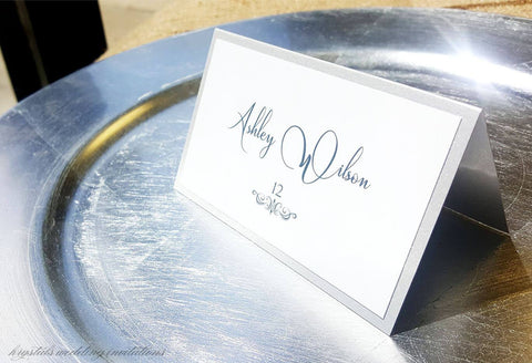 Place Cards - Intimate Modern Wedding Place / Escort Cards