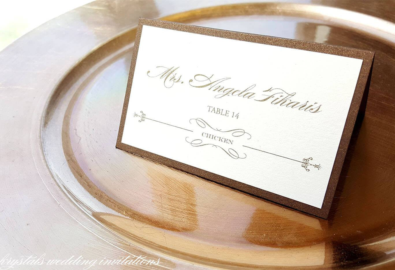 Modern Wedding Place Cards Escort Cards - Handcrafted and Customizable