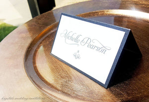 Romantic Formal Wedding Place / Escort Cards - Krystals Wedding Invitations