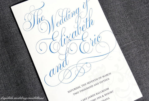 Flourish Script Wedding Programs - Krystals Wedding Invitations