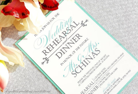 In Honor of the Future Mr. & Mrs. Wedding Rehearsal and Dinner Invitation - Krystals Wedding Invitations