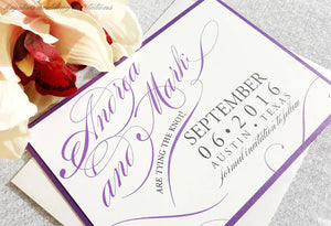 Flourish Script Save the Dates - Krystals Wedding Invitations