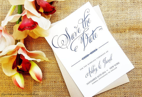 Rustic Chic Elegant Save the Dates - Krystals Wedding Invitations