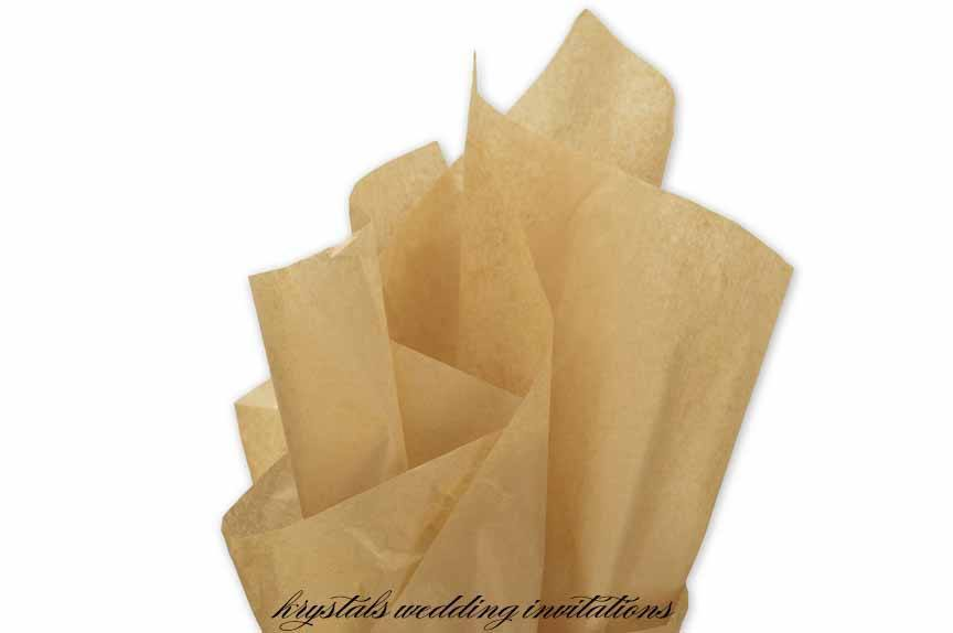 Premium Kraft Tissue Paper - Krystals Wedding Invitations