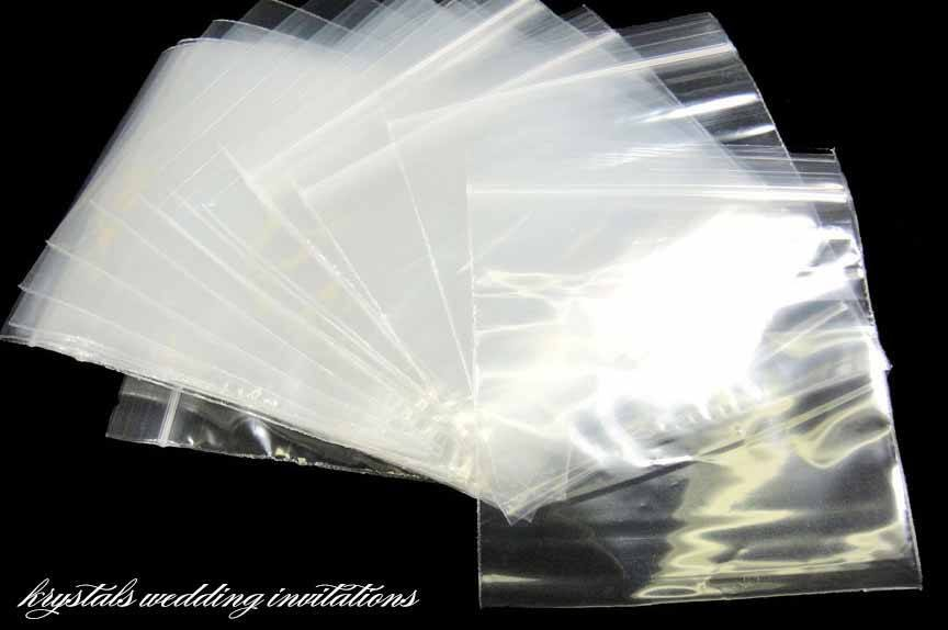 Reclosable Poly Bags - Favor Bags - Krystals Wedding Invitations