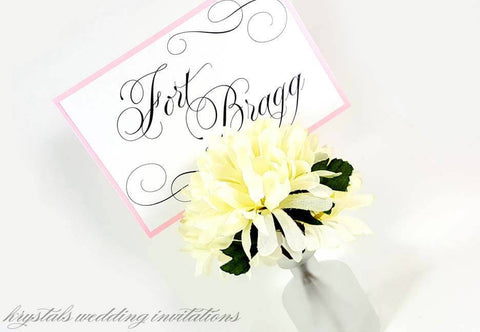 A Touch of Sparkle Inspired Wedding Table Word Cards - Krystals Wedding Invitations