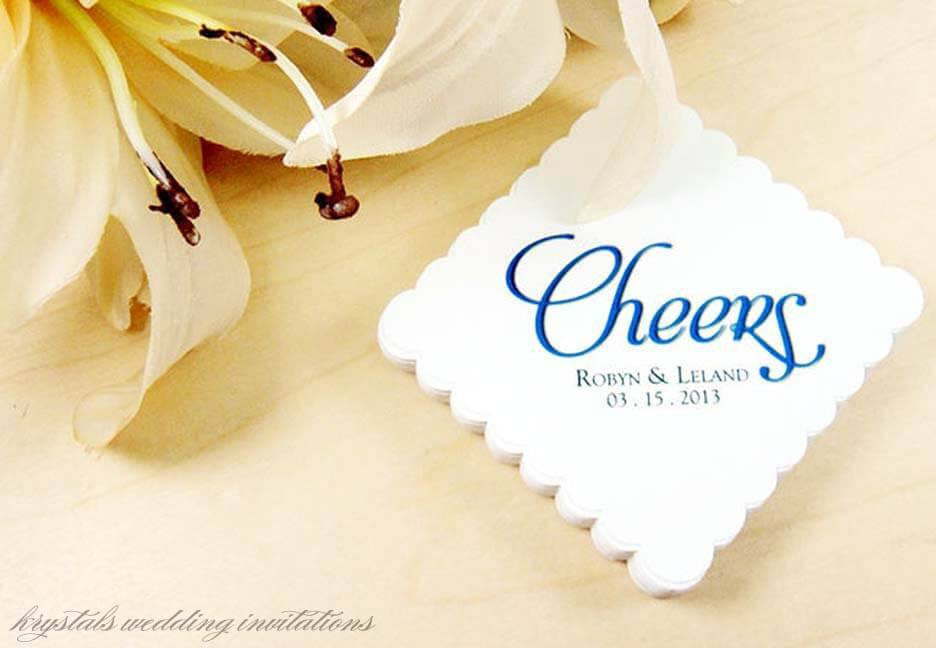 cheers wedding favor gift tags