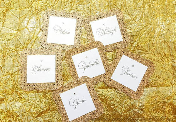 Lace Floral Bridal Tags - Krystals Wedding Invitations