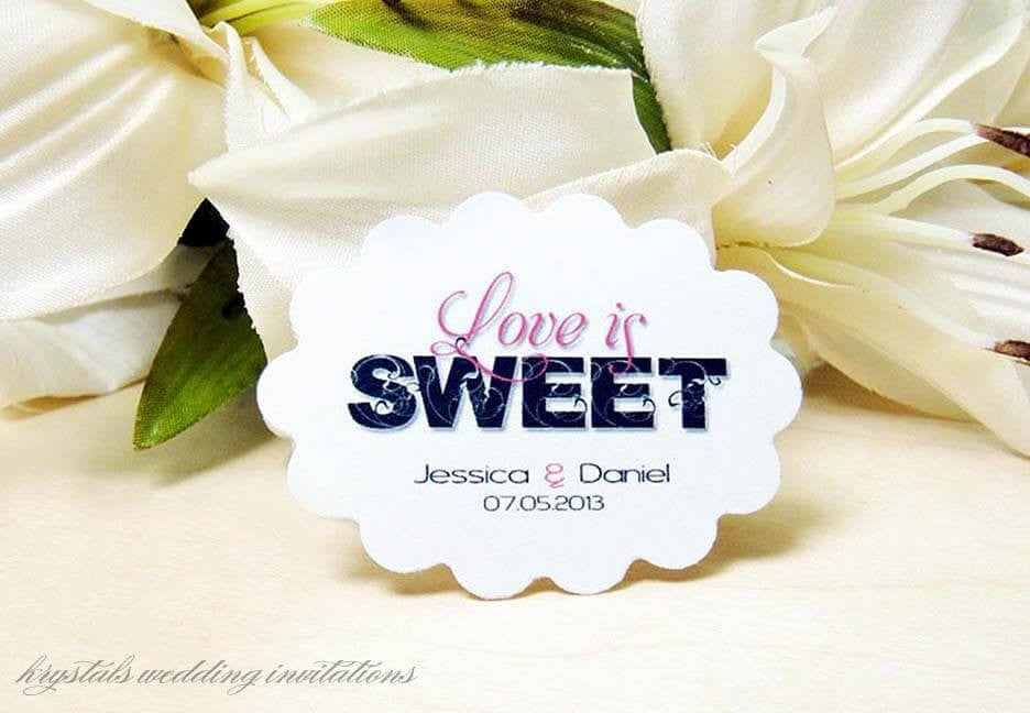 Love Is Sweet Candy Buffet Tags