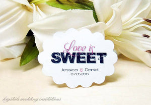 Tags - Love Is Sweet Candy Buffet Wedding Favor Gift Tags