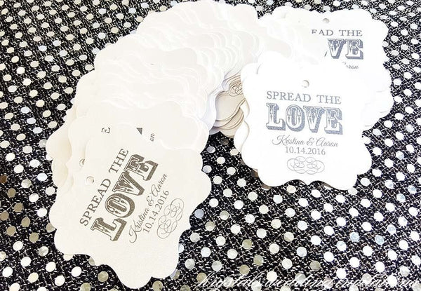 Spread the Love Wedding Favor Gift Tags - Krystals Wedding Invitations